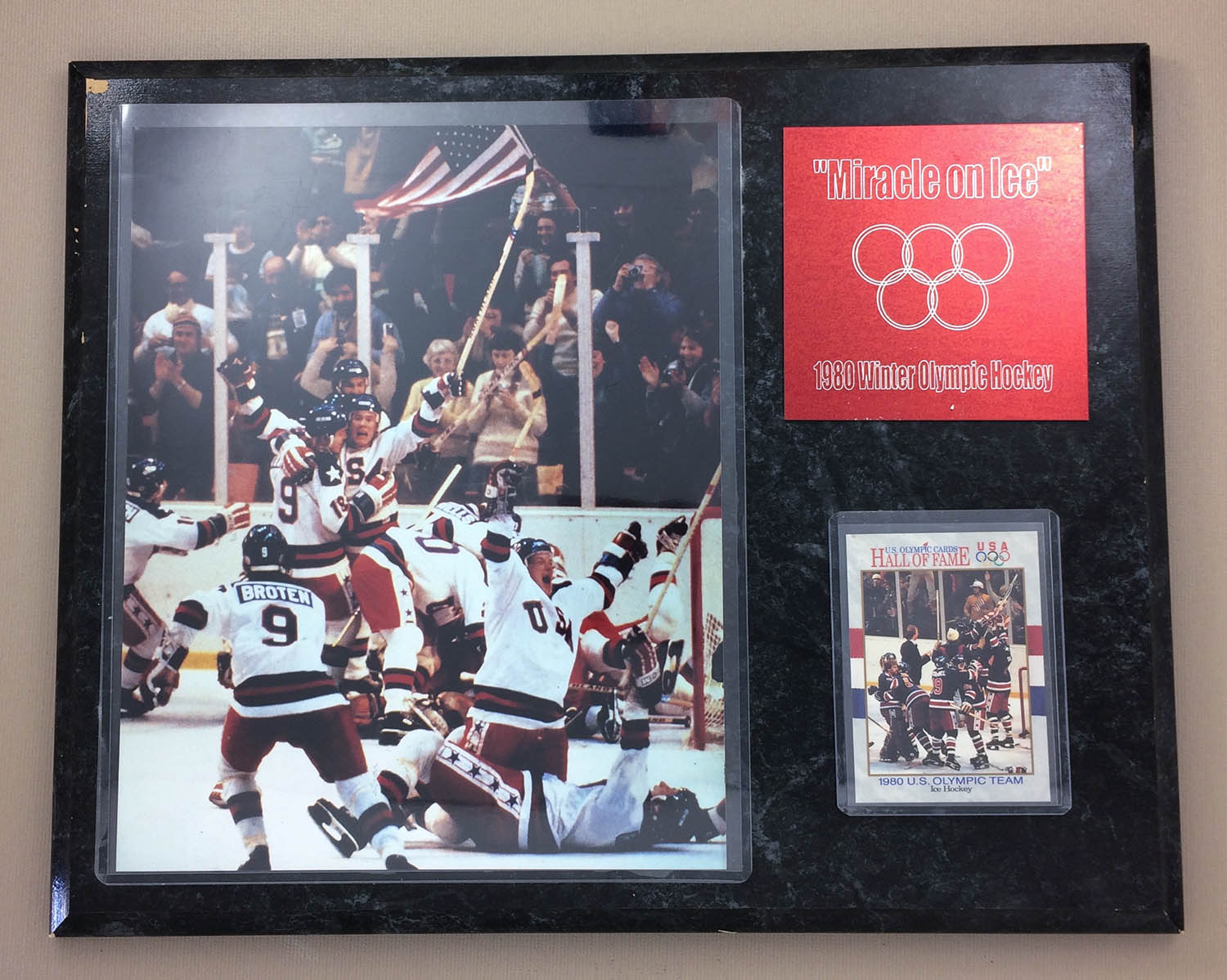 Miracle on Ice commemorative Plaque and Card