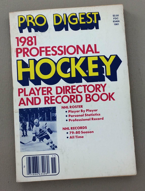 Pro Digest 1981 Professional Hockey