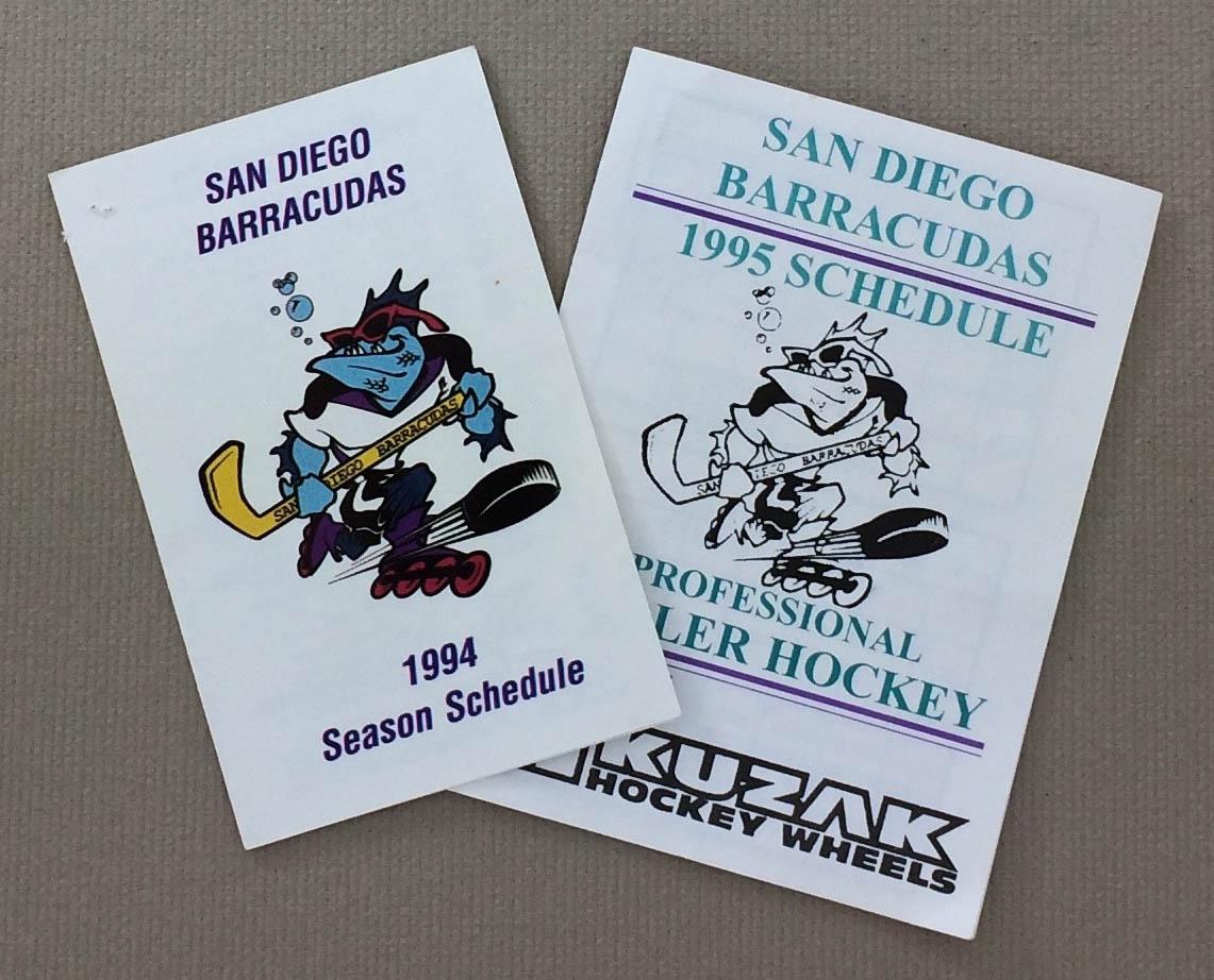 San Diego Barracudas 1994-1995 Schedules
