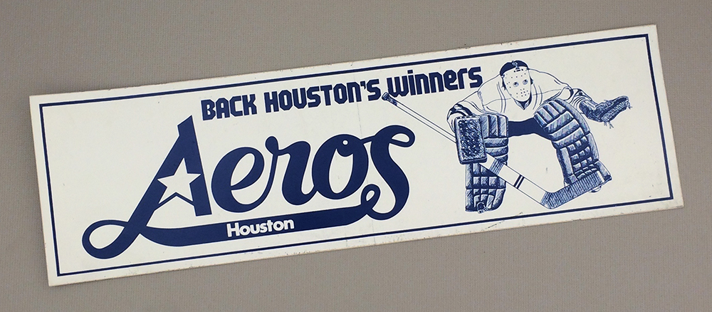 Houston Aeros Bumper Sticker