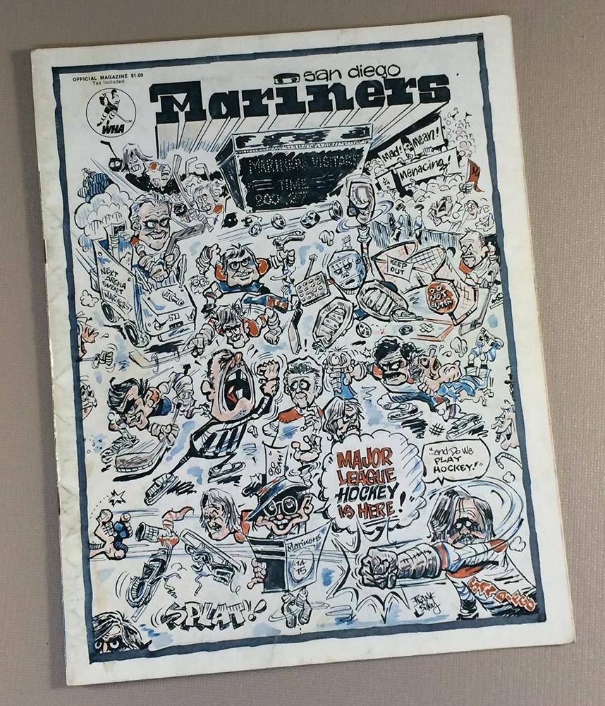 San Diego Mariners 1975 Game Program
