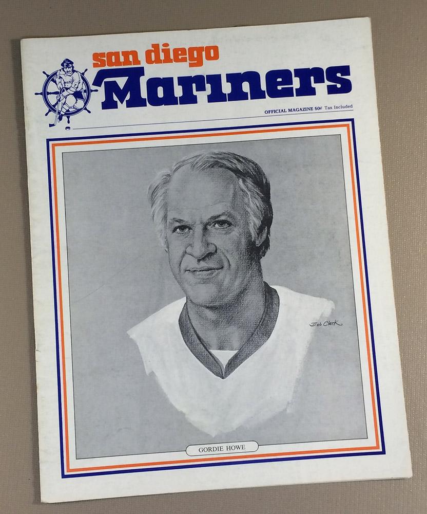 San Diego Mariners 1977 Game Program