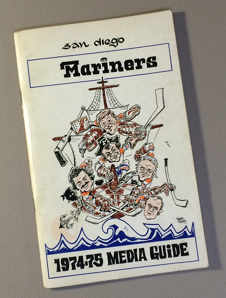San Diego Mariners 1974-75 Media Guide