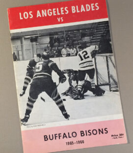Los Angeles Blades 1966 Game Program