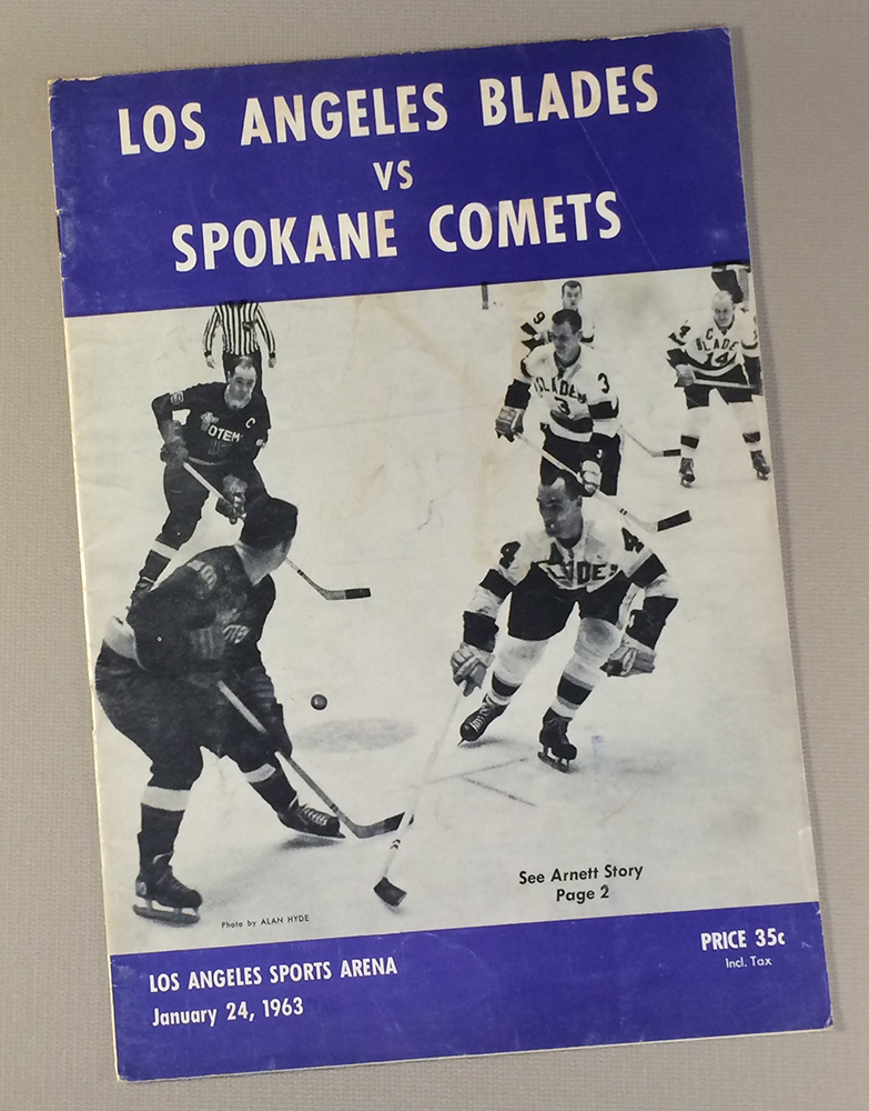 Los Angeles Blades 1963 Game Program