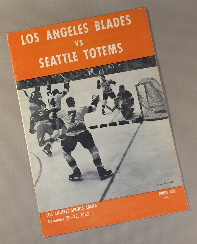 Los Angeles Blades 1962 Game Program