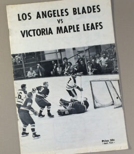 Los Angeles Blades 1960's Game Program