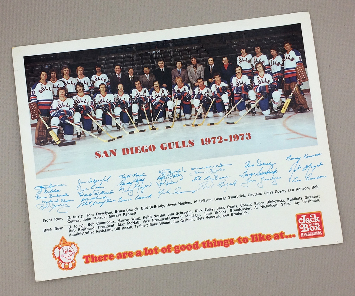 1972-73 San Diego Gulls Team Photo