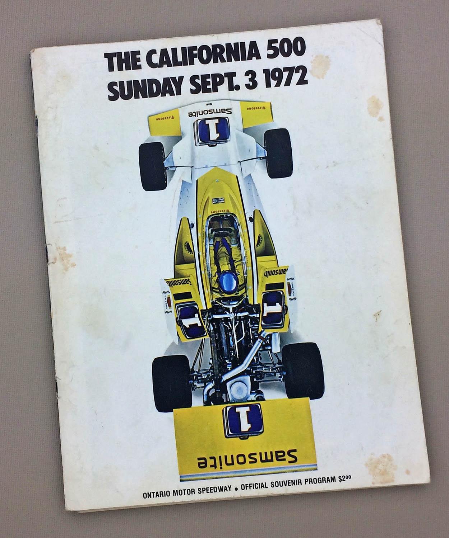 California 500 1972 Program