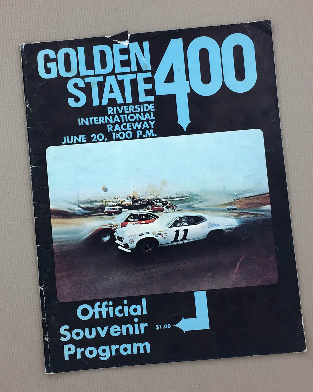 1971 NASCAR Golden State 400 program