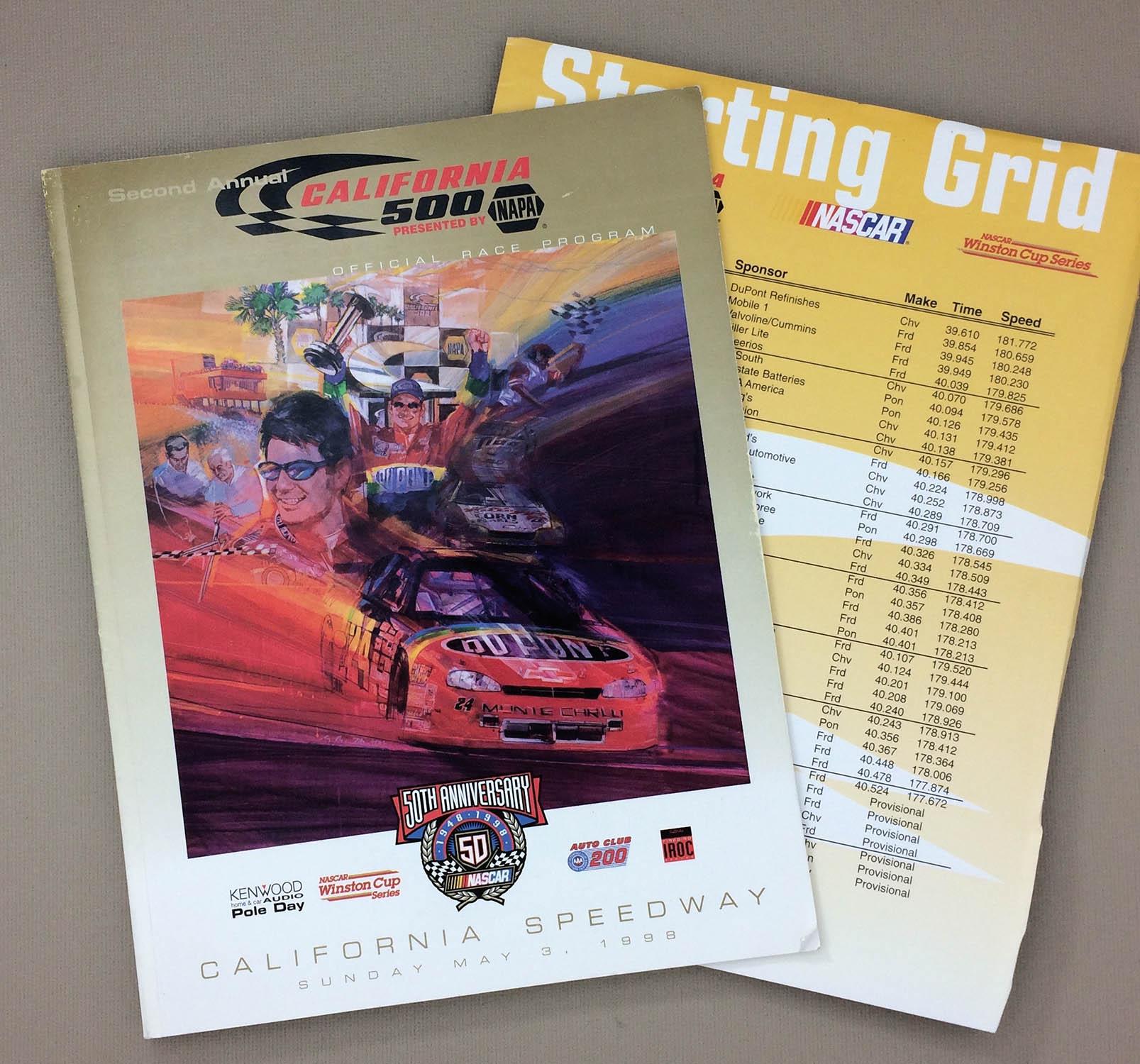1998 California 500 Program