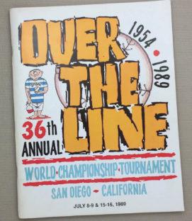 Over The Line 1989 Tournament Program