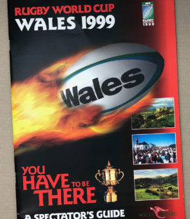 1999 Wales World Rugby Cup Program