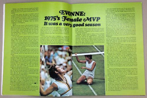 Evonne Goolagong 1975 Female MVP
