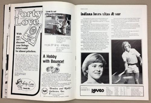 Indiana Loves Sue Barker Vitas Gerulaitis