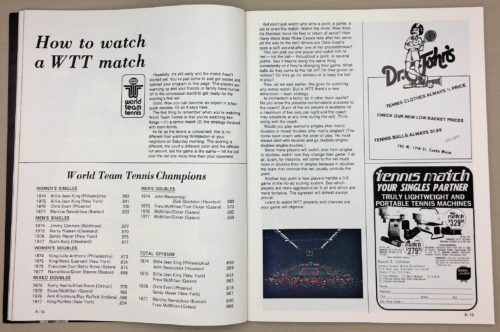 How to watch a WTT Match