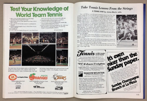 Test your knowledge of World Team Tennis