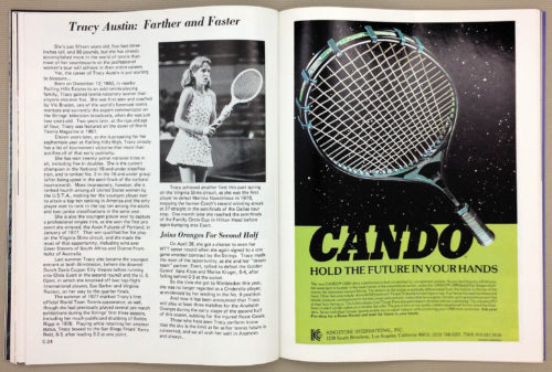 Tracy Austin just 15 years old