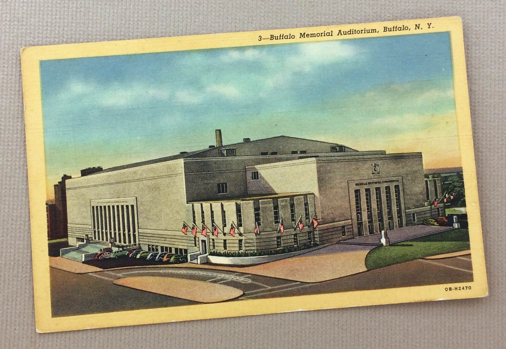 Buffalo Memorial Auditorium Postcard