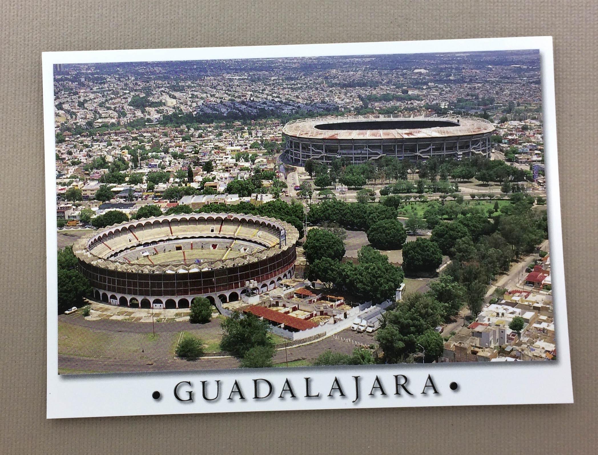 Estadio Jalisco & Bull Ring Postcard