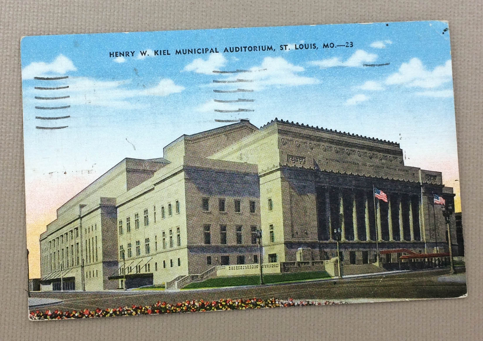 Kiel Auditorium Vintage Postcard