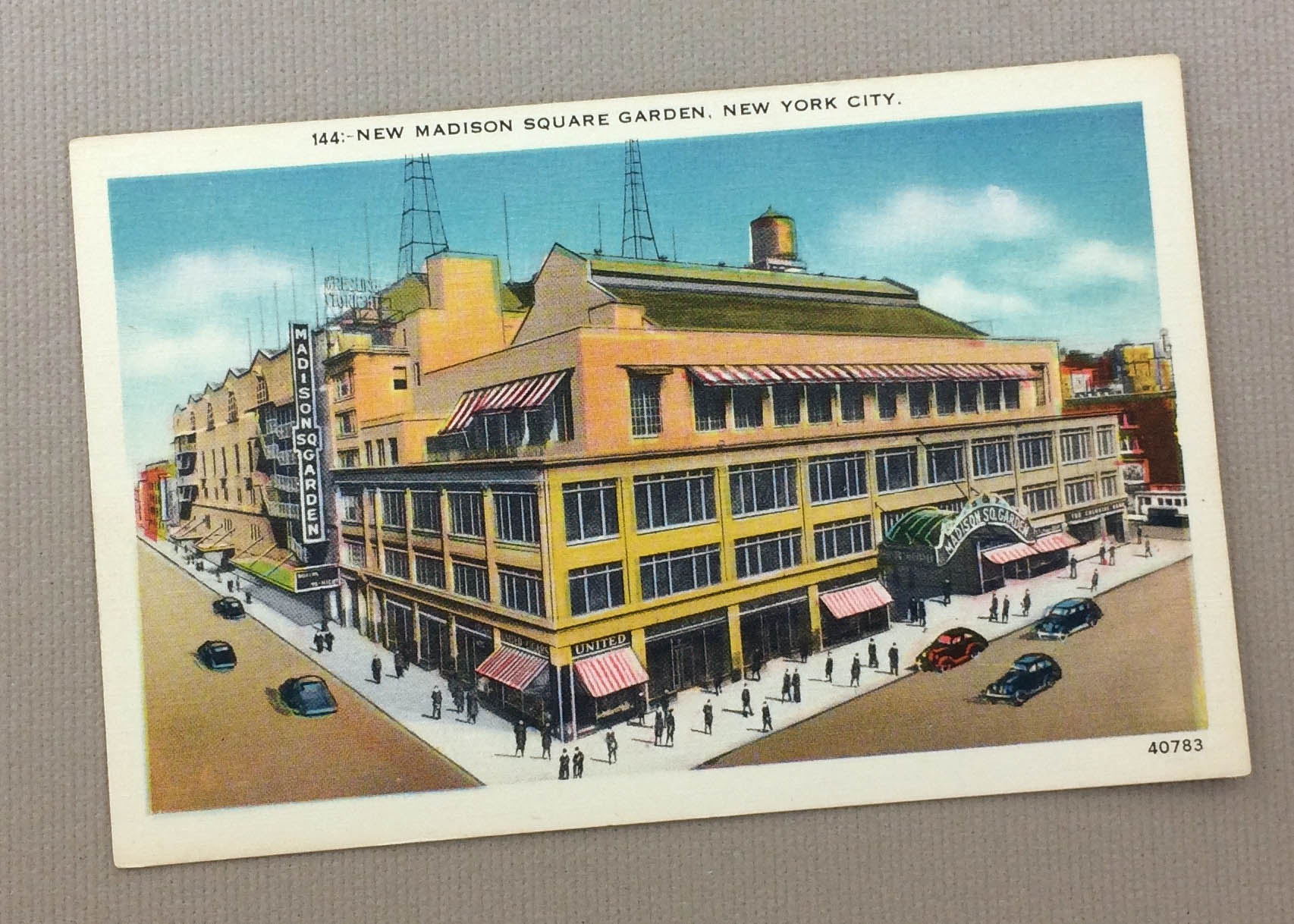 Vintage Madison Square Garden Postcard