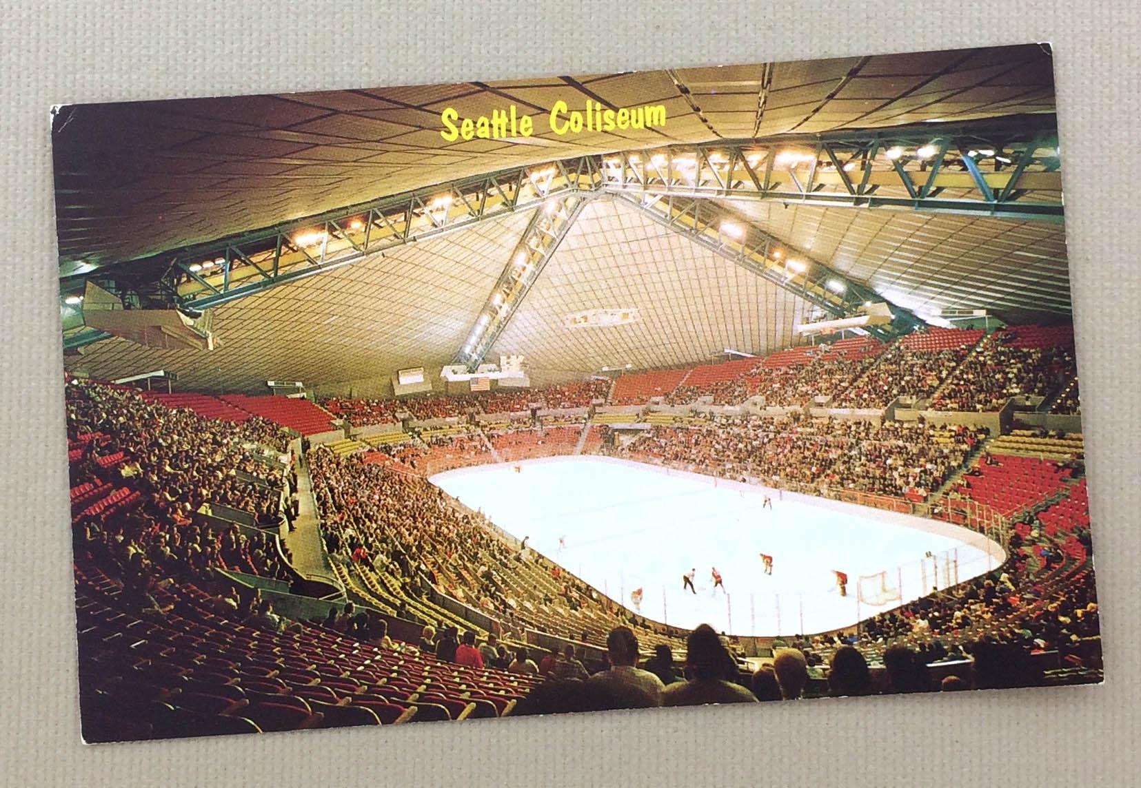 Seattle Coliseum Arena Postcard