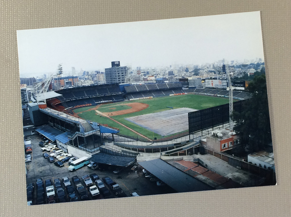 Mexico City's Estadio de Beisbol Postcard
