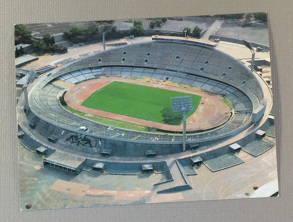 Postcard of Mexico City's Estadio Olímpico