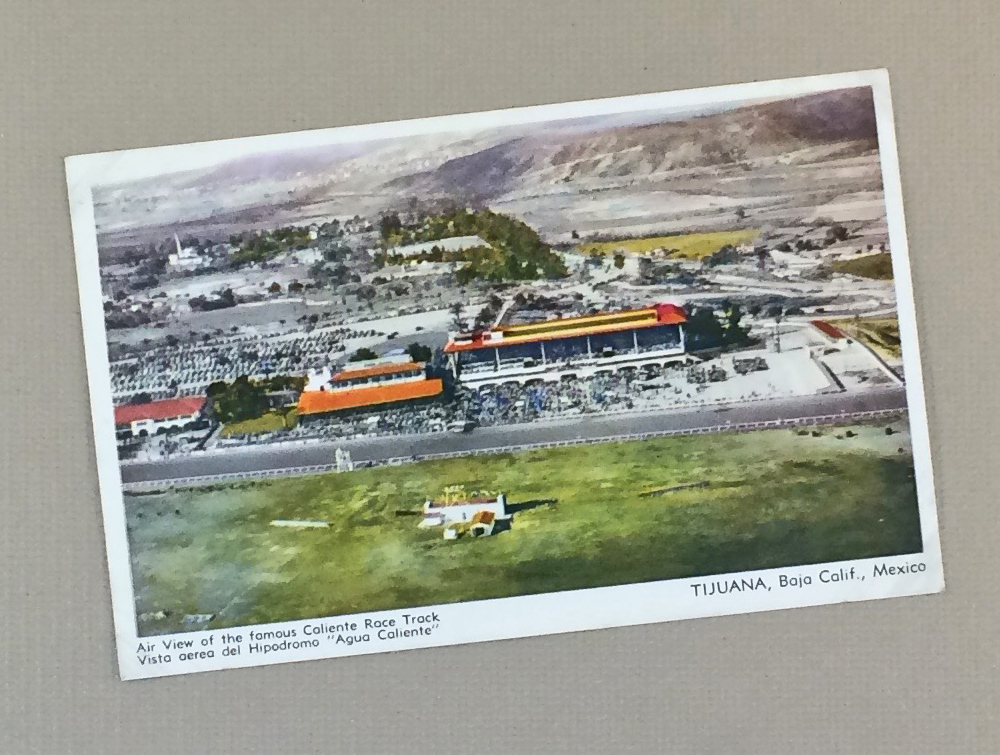 Litho Postcard of Hipodromo de Tijuana, MX