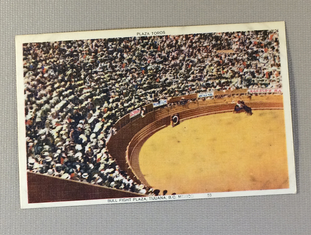 Litho Postcard of the Bull Ring in Tijuana, MX