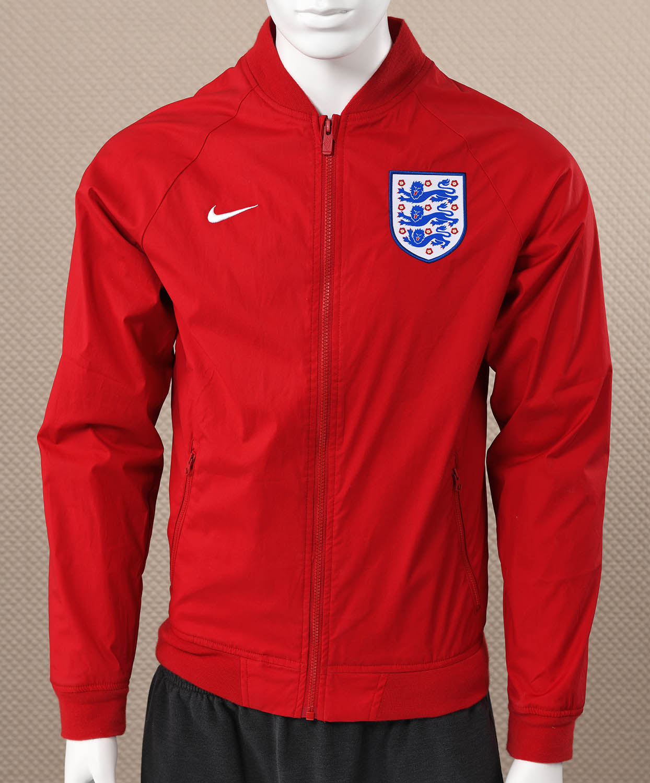 Mens Nike England Red Varsity Jacket