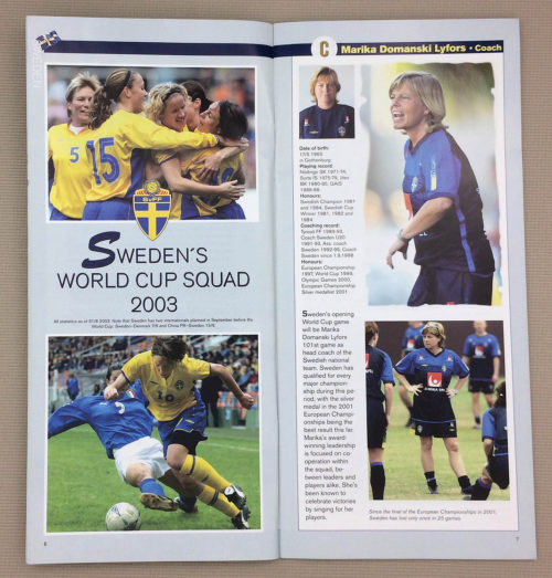 Sweden's World Cup Squad 2003
