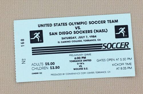 San Diego Sockers U.S. Olympic Team 1984 Ticket