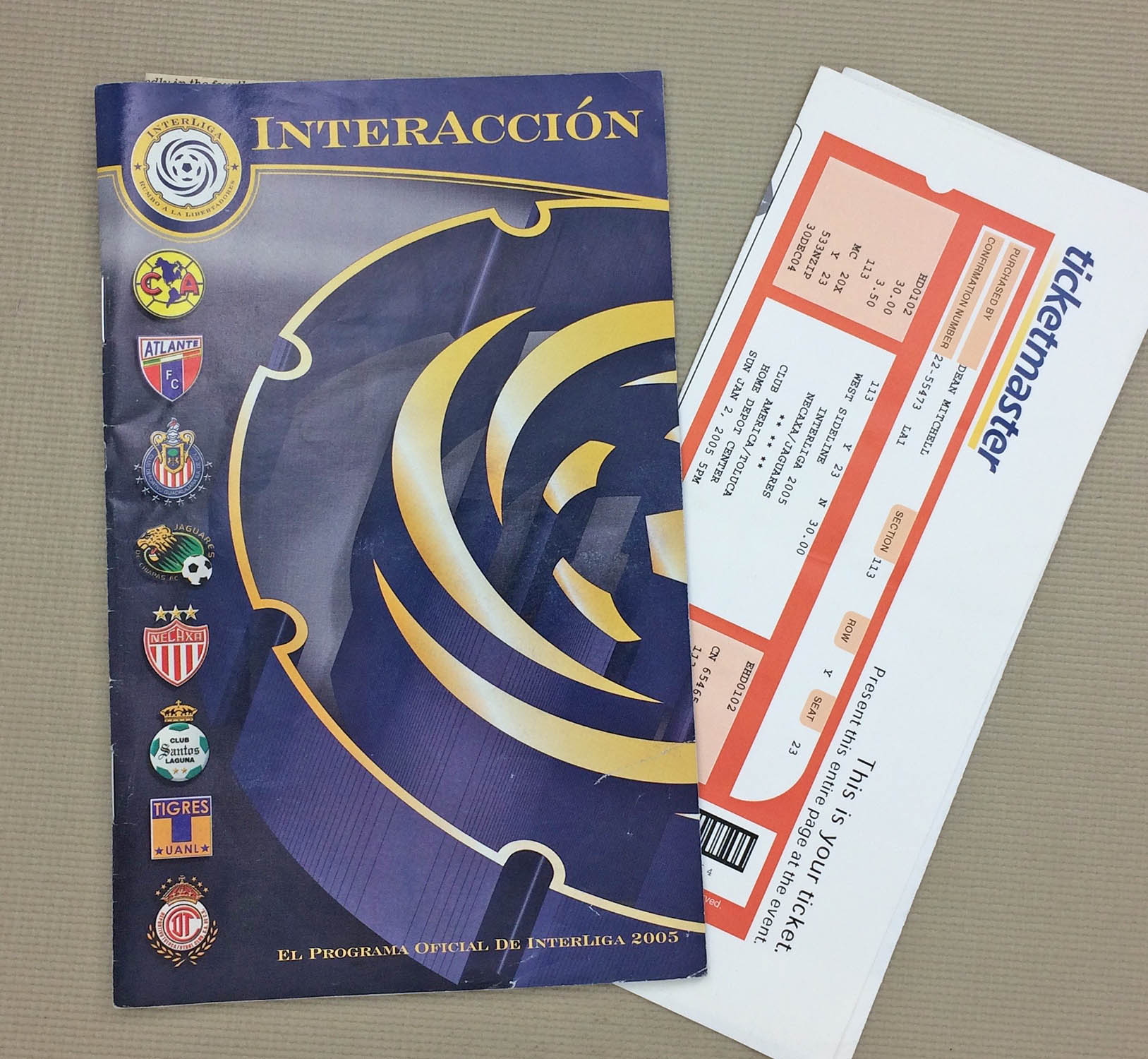 2005 Inter Liga Tournament Program