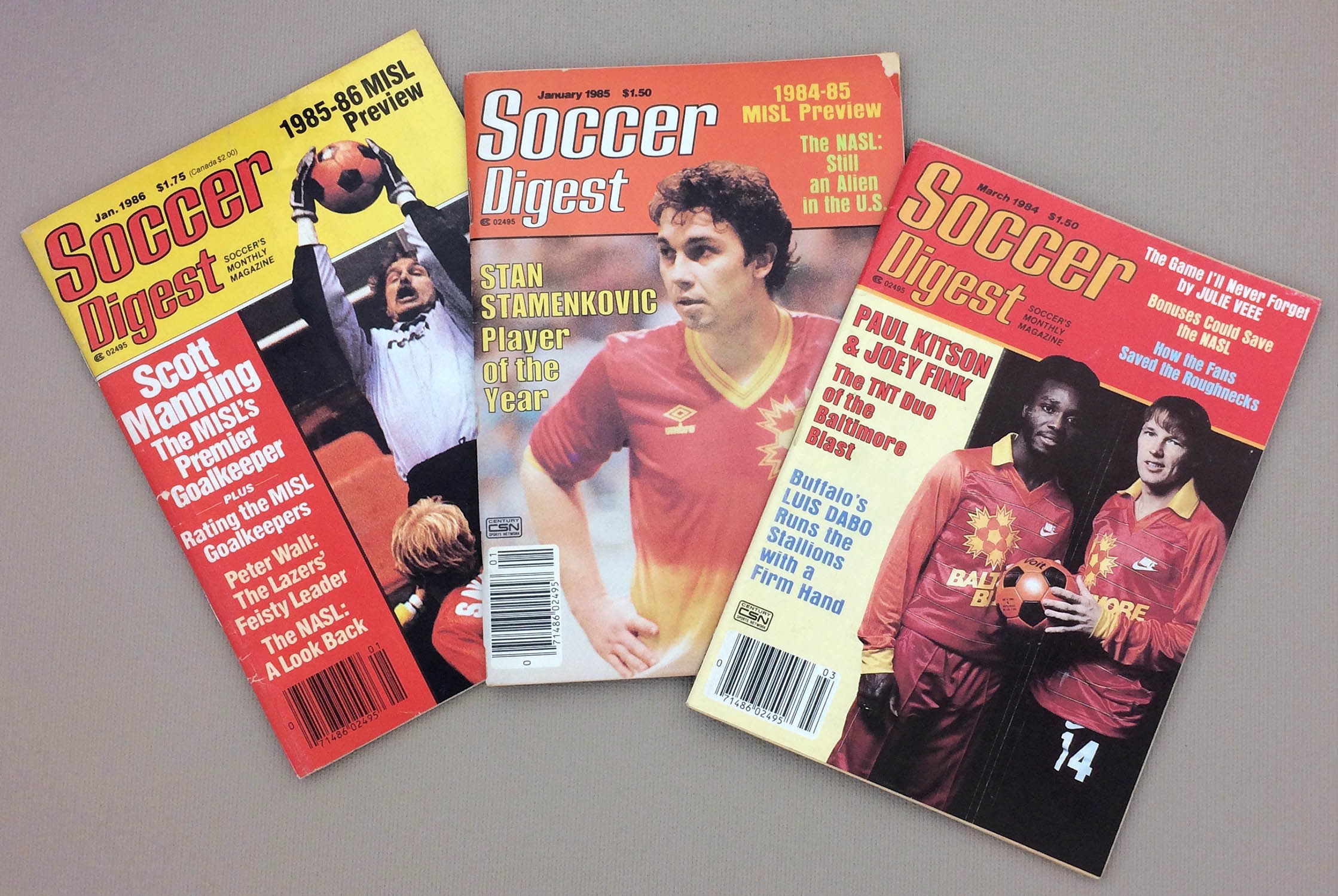 Baltimore Blast Cover Soccer Digest 3-Pack