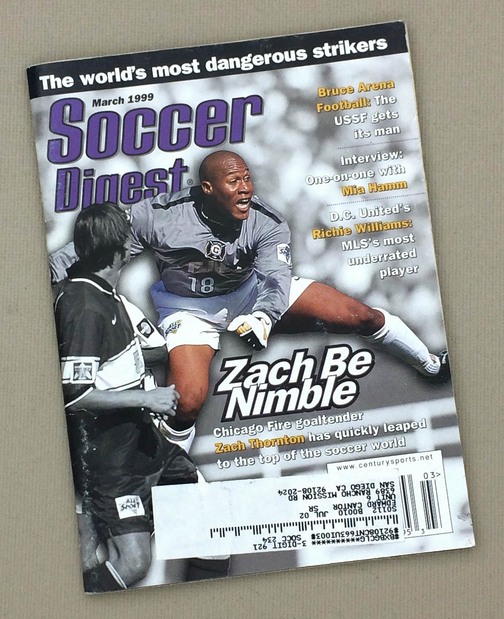 Soccer Digest March 1999 Issue