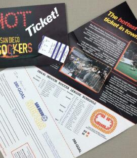 San Diego Sockers 1984-85 Ticket Brochure