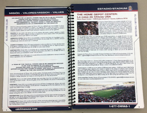 Chivas USA 2011 Media Guide