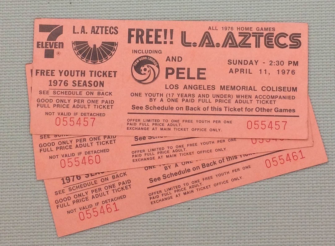 Los Angeles Aztecs 1976 Tickets