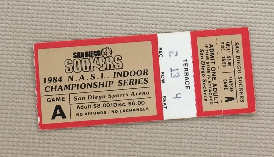 Sockers 1984 Championship Ticket