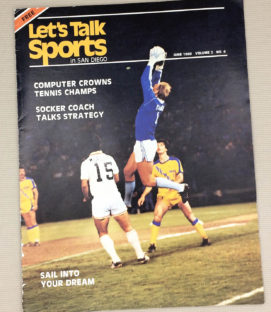 San Diego Sockers Let's Talk Sports Magazine
