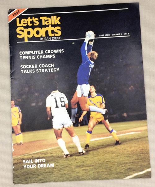 San Diego Sockers Let's Talk Sports Magazine