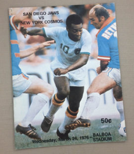 San Diego Jaws vs Cosmos 1976 NASL Program