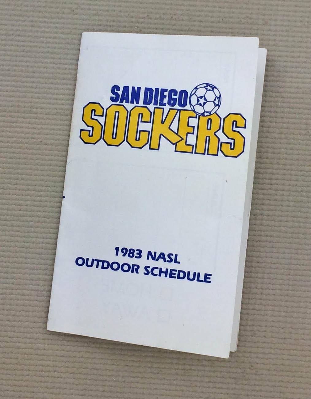 San Diego Sockers 1983 NASL Schedule