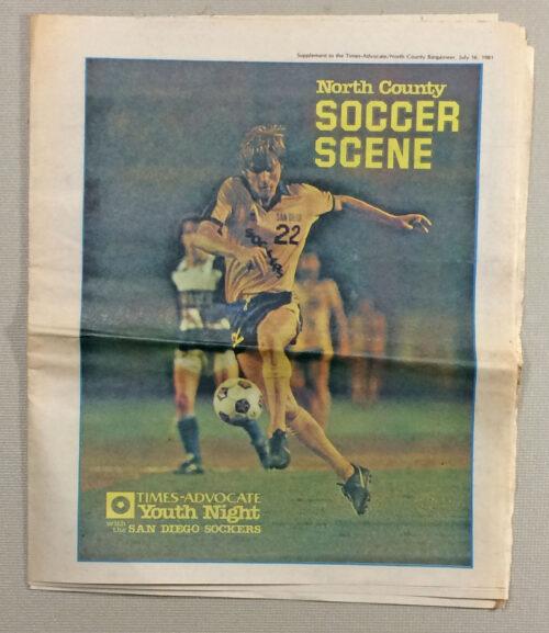 San Diego Sockers 1981 Game Tabloid