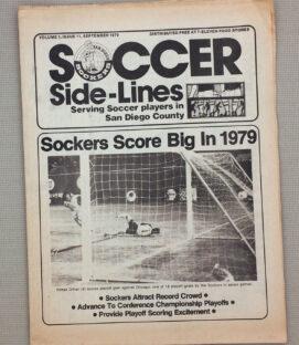 San Diego Sockers September 1979 Soccer Sidelines