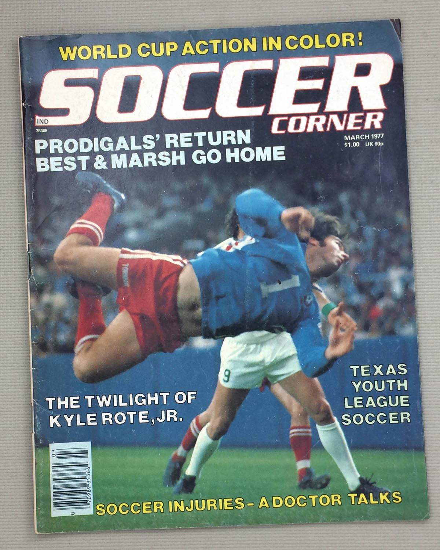 Soccer Corner Magazine March 1977