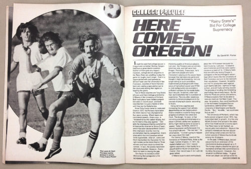 1978 College Soccer Preview Here comes Oregon