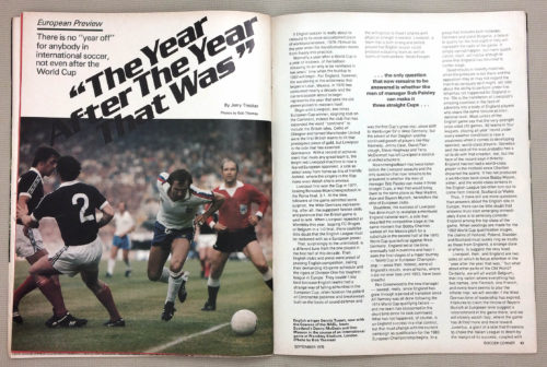 Soccer Corner 1978 European Preview
